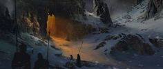 Find images and videos about art, illustration and concept art on We Heart It - the app to get lost in what you love. Landscape Concept, Fantasy Landscape, Environment Concept Art, Environment Design, Art Et Illustration, Illustrations, Fantasy Places, Fantasy World, Skyrim