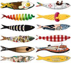 Questa non l'ho inventata io. Decorare le sardine è un concorso che la città di Lisbona lancia ogni anno, dal 2011, in vista della festa di Sant'Antonio.