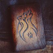 9aeb6626eb38 Канцелярские товары ручной работы. Ярмарка Мастеров - ручная работа Блокнот  на кольцах Волк ежедневник кожаный мужской женский из кожи. Handmade.