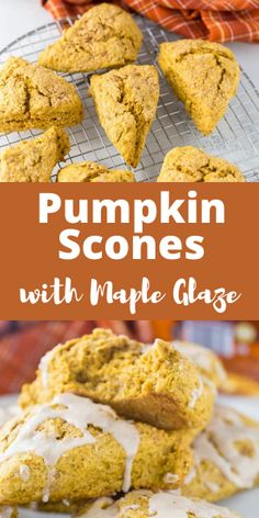 If you are a fan of scones, then these pumpkin scones are one to try. They are sweet, spiced, and filled with pumpkin flavor. #aclassictwist #pumpkinscones #pumpkinrecipes #fallbreakfast Fall Breakfast, Breakfast Ideas, Breakfast Recipes, Pumpkin Scones, Pumpkin Spice Syrup, Potato Puree, Maple Glaze, Just Bake, Fall Baking