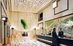 One of many U.S. commissions, the 561-suite London hotel in midtown—and particularly its travertine lobby—shows how adept the studio has always been at designing instant icons.