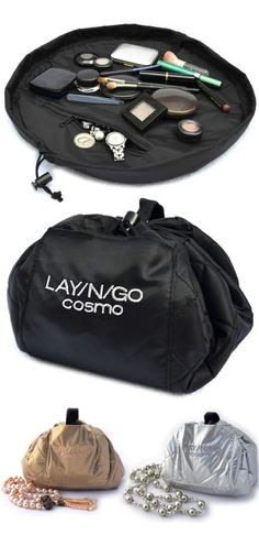 BEST Make-Up Bag EVER! I just got one of these ... And I love it! No more having to dig to the bottom of my make-up bag to find something. Everything lays out flat and is easy to see.