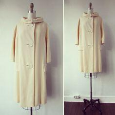 1950s - 1960s swing coat | vintage 50s - 60s swing coat | vintage winter coat | medium - large | The Sabine Swing Coat by VivianVintage8 on Etsy