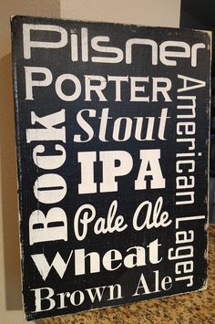 "Beer Subway Art Man Cave - Hand Painted Wood Sign - 9""x13"". $24.00, via Etsy."