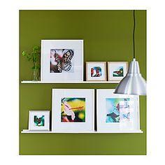RIBBA Picture ledge, white - white - 115 cm - IKEA