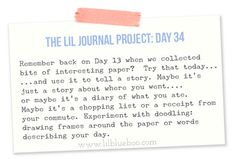The Lil Journal Project Day 34 via lilblueboo.com #theliljournalproject #artjournaling