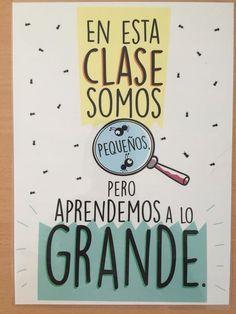 Pequeños aprendemos a lo grande Dual Language Classroom, Spanish Classroom, Teaching Spanish, Kindergarten Classroom, School Classroom, Classroom Decor, Spanish Teacher, Class Decoration, Teachers' Day