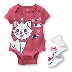 Disney Baby Aristocats Infant Girl's Bodysuit Booties Marie