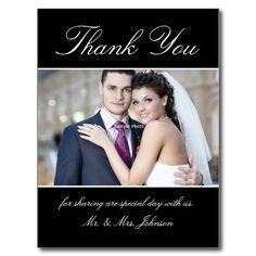 Custom thank you postcard