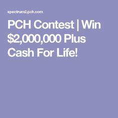 PCH Contest   Win $2,000,000 Plus Cash For Life!