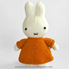 Miffy Knit Bunny! Pattern is free!