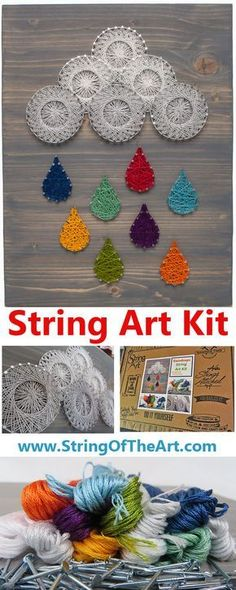 String Art DIY Crafts Kit - String together this awesome string art kit with String of the Art! Within hours you can display this completely unique crafts project. Comes with all the supplies you'll need. Instructions are a piece of cake.