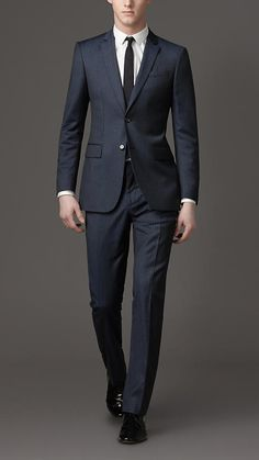 Modern fit two button pinstripe suit by Burberry