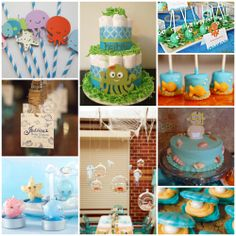 "Host and ""Under the Sea"" baby shower and dive into some fun with the mommy-to-be!"