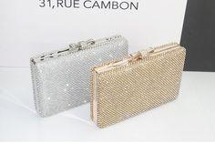 Hot Sale 2014 New Luxury Bow Gold Small Sliver Strass Diamonds Women Evening Bags Bridal Clutches Handbags Purse Sac de Soiree  $49.99