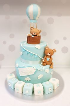 30 Cool Baby Shower Cake Ideas For Your Baby Boy - babyideaz Baby Cakes, Baby Shower Cakes, Baby Shower Fun, Cadeau Baby Shower, Baby Boy Birthday Cake, Teddy Bear Cakes, Teddy Bear Baby Shower, Cool Baby Stuff, Cake Ideas