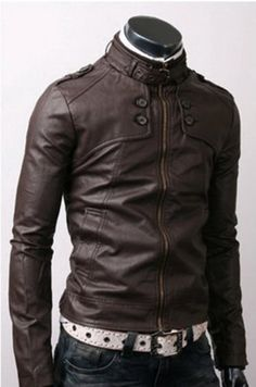 Handmade Men Dark Brown Leather Jacket - UK Merchant only: 109.00 €
