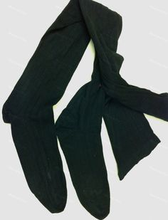 Antique black cotton over the knee Thigh High Stockings late Victorian early Edwardian for $30 from Recursive Chic @ recursivechic.com
