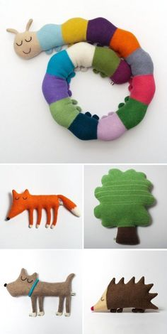 woodland pillows by Sara Carr Sewing For Kids, Diy For Kids, Crafts For Kids, Sewing Toys, Sewing Crafts, Felt Crafts, Diy And Crafts, Craft Projects, Sewing Projects