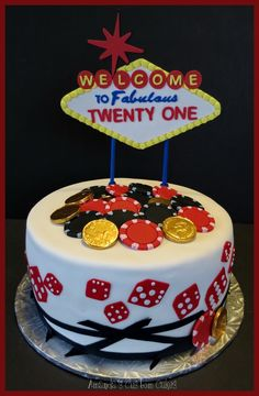 Las Vegas Cake For Someone Tuning 21 Party D