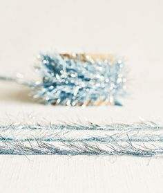 Tinsel Twine in Blue Topaz  6 Yards  Holiday by thatchandthistleco, $4.00