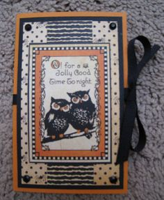 Graphic 45 Gift Card Holder - Owls