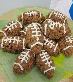 Kick It Cocoa Krispies Footballs Recipe | FoodReviews.info
