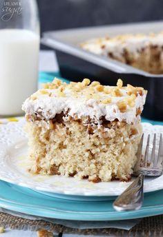 Baklava Poke Cake - lots of cinnamon, honey and walnuts! So good!