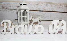 Napis drewniany BRAWO JA TY litery dekoracja 3D - sweety-home - Litery i napisy