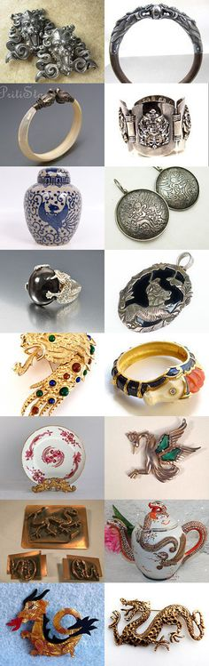 Dragons and Other Mythical Creatures on Etsy by v385 on Etsy--Pinned with TreasuryPin.com
