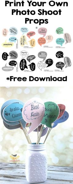 Printable Photo Booth Props for a Graduation Party Free Download Print, cut & tape