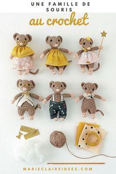 tuto crochet : des doudous souris DIY - Marie Claire Idées