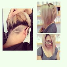 undercut to get rid of some of the bulk for thick hair & know one will know unless you want them to :) Can even add some designs!
