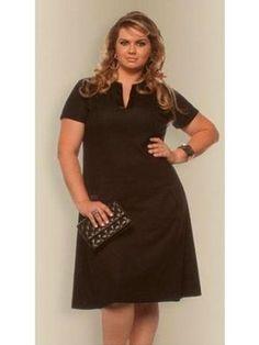 Vestido plus size Patrícia por R$ 278,18 / Foto divulgação Vestido Casual, Full Figured Women, Moda Plus Size, Plus Size Outfits, Curves, Short Sleeve Dresses, Formal Dresses, Womens Fashion, How To Wear