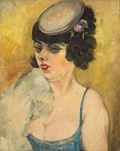 Georg Tappert - Mädchen mit flachem Hut 1925