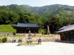 삼화사 대웅전과 3층 석탑  Samhwasa(sa=buddism temple) daeoongjeon & 3 storied stone pagoda