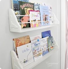 Bookshelves for the nursery