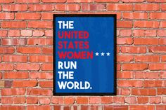 United States Women's National Soccer Team Poster by MajorPrints
