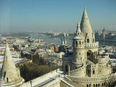The view from the Hilton Hotel in the castle District, Budapest, Hungary. The building was artfully inserted into the surrounding architecture so that it does not really impact the view (even though it is part of the famous skyline.).