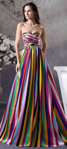 prom dress prom dresses-- this picture looks really altered but I love this dress! Evening Dresses, Prom Dresses, Formal Dresses, Wedding Dresses, Dress Prom, Rainbow Prom Dress, Beautiful Gowns, Beautiful Outfits, Traje Black Tie