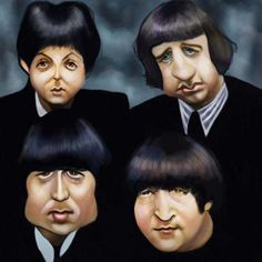 Caricaturas by Daniel Alho / THE BEATLES