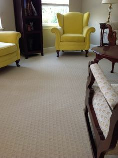 When choosing carpet its best to go with versatility. This durable, neutral carpet allows for accent furniture to really pop!