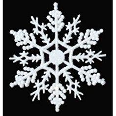 12-pc White 4 inch Snowflake Christmas Ornaments White Christmas Ornaments, Christmas Crafts, Christmas Decorations, Christmas Ideas, Seasonal Decor, Holiday Decor, Wings Design, Crochet Snowflakes, White Snowflake