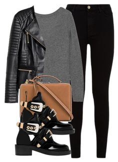 """""""Untitled #11832"""" by vany-alvarado ❤ liked on Polyvore featuring 7 For All Mankind, Equipment, H&M, Mark Cross and Balenciaga"""