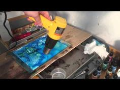 Alcohol Inks: Me rambling while working on a piece - YouTube