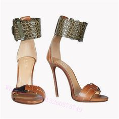 73.62$  Watch now - http://alizbr.shopchina.info/1/go.php?t=32798365099 - Best Selling women shoes sandals Brown leather fine with toe high heels ol Daily office  shoes In the spring of the new arrived 73.62$ #buyonline