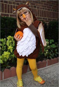 Homemade Owl Halloween Costume  Pinned by www.myowlbarn.com
