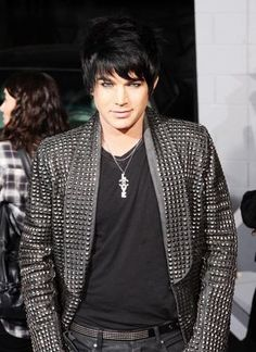 Black Leather Pants, Leather Jacket, Adam Lambert Concert, Normal Guys, Crazy Outfits, American Idol, Cool Eyes, Pretty Boys, Beautiful Men