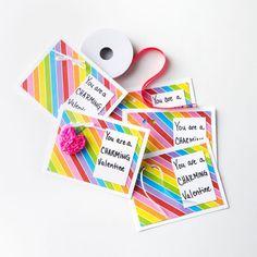 DIY Rainbow Loom® Heart Charm Valentine's Day Card