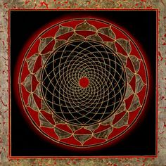 Red Center Black Mandala